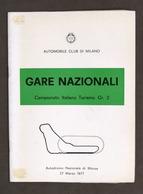 Gare Nazionali Campionato Turismo Gr. 2 - Autodromo Monza 1977 - Regolamento - Altri