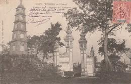 TONKIN : (asie) Hanoï. Entrée De La Pagode Du Pinceau - Postcards