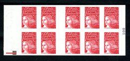 Carnet LUQUET - La Poste - Type 1 - Carré Noir + RE - RRR - Lot 03 - Postzegelboekjes