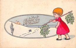 Nouvel An (Fantaisie) - Bonne Année - Enfant - Gui - Illustrateur - Nouvel An