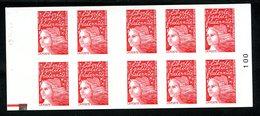 Carnet LUQUET - La Poste - Type 1 - Carré Noir + RE - RRR - Lot 04 - Postzegelboekjes