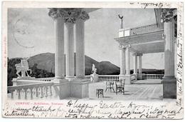 GREECE -CORFOU-ACHILLEION-TERRASSE -VIAGGIATA 1904 - Grecia