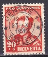 Switzerland/1939 - Zu 103 - 20 (+5) C -  USED/'GENEVE 1' - Pro Juventute