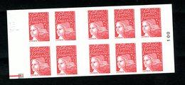 Carnet LUQUET - La Poste - Type 2 - Carré Noir + RE - RRR - Lot 05 - Postzegelboekjes