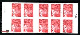 Carnet LUQUET - La Poste - Type 1 - Carré Noir + RE - RRR - Lot 06 - Postzegelboekjes