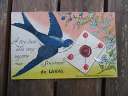 CPA A SYSTEME 53 SOUVENIR DE LAVAL HIRONDELLE LETTRE - Laval