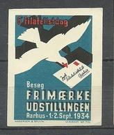 DENMARK 1934 Stamp Exhibition Briefmarkenausstellung Aarhus Reklamemarke Vignette MNH - Dänemark