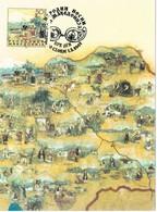 33436. Tarjeta Maxima SKOPIE (Macedonia) 2001. Mapa Trajes Tipicos - Macedonia