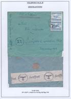 424/29 - CANTONS DE L'EST Belges - Lettre Paire TP Luftfeldpost ( Double Port ) 1943 Vers Mme Zander à EUPEN - Allemagne