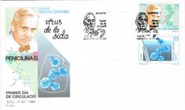 33438. Carta  F.D.C. ANDORRA La VIEJA (andorra Española) 1994. SIDA, Virus, Alexander Fleming - Cartas