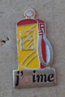 Pin's Carburants 006, Shell J'aime Pompe à Essence - Fuels