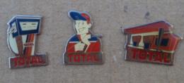 Pin's Carburants 014, Total Lot De 3 Pin's - Fuels