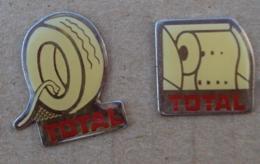 Pin's Carburants 016, Total Lot De 2 Pin's - Fuels