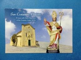 CARTOLINA SANTINO HOLY CARD SAN COSTANTINO VESCOVO - Santini