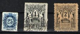 Hungría  Nº 12 Y 16a Y 15. Año 1874 - Telegraph