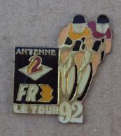 Pin's Sport Cyclisme 003, Tour De France 1992 FR3 Antenne 2 - Cycling