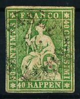 Suiza Nº 30 USADO - 1854-1862 Helvetia (Sin Dentar)