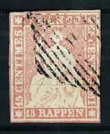Suiza Nº 28 USADO - 1854-1862 Helvetia (Ungezähnt)
