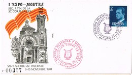 33440. Carta Exposicion BARCELONA 1981. Sant Andreu Del Palomar. Sociedad Coral LA LIRA - 1931-Hoy: 2ª República - ... Juan Carlos I