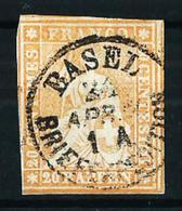 Suiza Nº 29 USADO - 1854-1862 Helvetia (Sin Dentar)