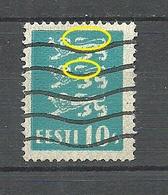 Estland Estonia 1928 Michel 79 ERROR Abart = Damaged Tails O - Estland