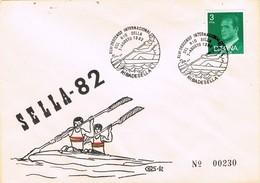 33443. Carta RIBADESELLA (Asturias) 1982, Descenso Sella Canoa, Piragua SELLA 82 - 1931-Hoy: 2ª República - ... Juan Carlos I