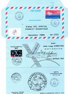 Aérogramme - 2 ème Vol Spatial Franco-Soviètique (26/11/1988) ESPACE - Tirage Limité - - Storia Postale