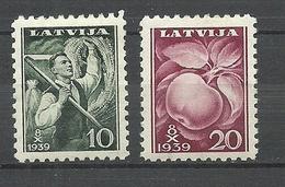 LETTLAND Latvia 1939 Michel 279 - 280 * - Lettonie