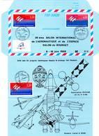 Aérogramme - 38 ème Salon De L'aéronautique Et De L'espace (16/06/1989) ESPACE - Tirage Limité - - Storia Postale