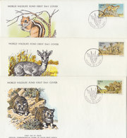 SWA 1976 FDC (3)WWF. With Mammals. - FDC