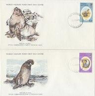 TRISTAN DA CUNHA 1979 FDC (2) With Mammals. - FDC