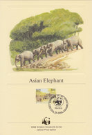 SRI LANKA 1986 WWF Official Proof Edition (4) With Asian Elephant. - W.W.F.