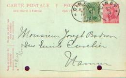Carte Postale Pré-imprimée (effigie Albert I Casqué– 10 Centimes) Ayant Circulé De CINEY Vers NAMUR (1921) - Stamped Stationery