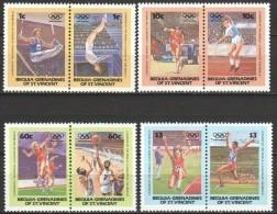 Grenadines Of St Vincent (Bequia) 1984 Mi 35-41 MNH OLYMPICS - Zomer 1984: Los Angeles