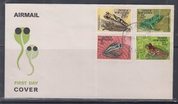 Papua New Guinea 1968 Frogs FDC(LAE Cancellation) - Papouasie-Nouvelle-Guinée