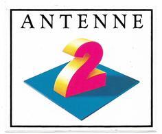 Autocollant -  ANTENNE 2  - Ft 13,5 X 11,5 Cm - Stickers