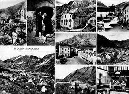 Andorre. CPSM. Vues Multiples, église, Andorran Buvant Du Porto, Maison Des Vallees, Place, Radio Andorre, Speakers.1960 - Andorra