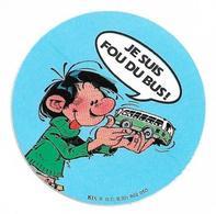 Autocollant -  Je Suis Fou Du Bus - Diam. 6 Cm - Autocollants