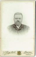 Photo CDV. Foto Ruys-Morel Tournai/Courtrai. Homme Barbu Identifié. - Anciennes (Av. 1900)