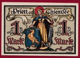 Allemagne 1 Notgeld  1 Mark Stadt Prien   (RARE) Dans L 'état N °4237 - Collections