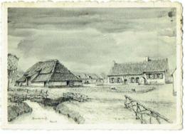 "Carte Visite. Heist. Restaurant-Bar ""Boerenhof. Illustrateur R.Quintyn. - Visitekaartjes"