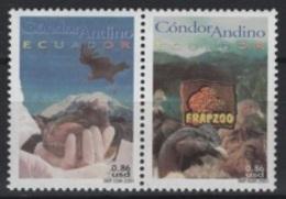 Ecuador (2001) Yv. 1581/82  /  Aves - Birds - Oiseaux - Vogel - Condor - Oiseaux