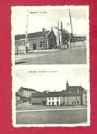 C.P. Jamioulx = La  GARE  +  La  Place Et  La Poste - Ham-sur-Heure-Nalinnes