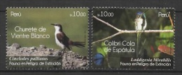 Peru (2011) Yv. 1987/88  / Birds - Oiseaux - Endangered - Peligro De Extincion - Oiseaux