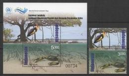 Indonesia (2014) - Set + Block -   /  Aves - Birds - Oiseaux - Vogel - Crab - Oiseaux