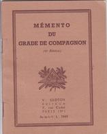 FRANC-MACONNERIE   -  Mémento Du Grade De Compagnon  -  Manuel De 16 Pages - Filosofia & Pensatori