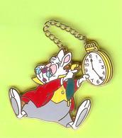 Pin's BD Disney Lapin Montre (Alice Au Pays Des Merveilles) - 9Z25 - Disney