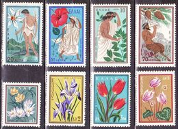 GREECE 1958 Nature Conservation MNH Set Flowers  Vl. 746 / 753 - Griekenland