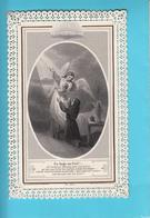 """Image Religieuse Dentelle  Canivet  """"Un Ange Au Ciel"""" Ed Letaille - Devotion Images"""