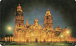 LA CATEDRAL DEL MEXICO-VISTA DE NOCHE-VIAGGIATA 1968 - Messico
